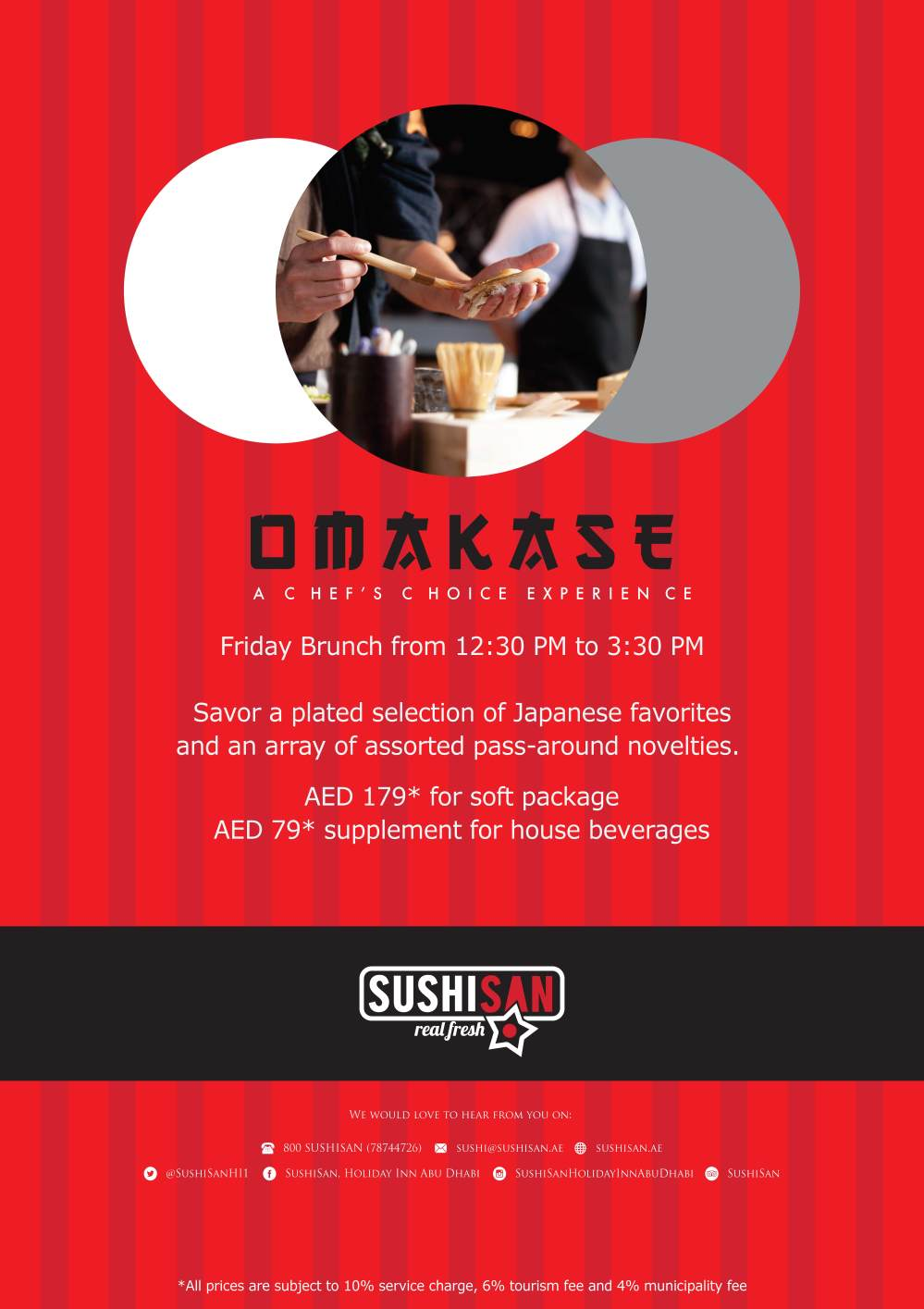 Omakase Friday Brunch A1 Poster