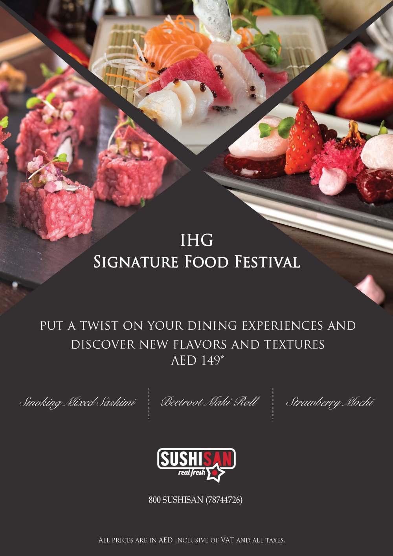 IHG Signature Food Festival - SushiSan menu - v1